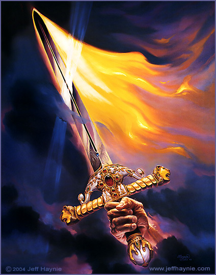 Let the high praises of God be in their mouth, and a twoedged sword in their hand