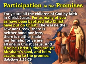 "Now, the promises were made to Abraham and to his descendant. You will observe that Scripture, in the careful language of a legal document, does not say ""to descendants,"" referring to everybody in general, but ""to your descendant"" (the noun, note, is singular), referring to Christ. This is the way I interpret this: A will, earlier ratified by God, is not annulled by an addendum attached 430 years later, thereby negating the promise of the will. No, this addendum, with its instructions and regulations, has nothing to do with the promised inheritance in the will. The God of GLORY! How blessed is God! And what a blessing he is! He's the Father of our Master, Jesus Christ, and takes us to the high places of blessing in him. Long before he laid down earth's foundations, he had us in mind, had settled on us as the focus of his love, to be made whole and holy by his love. Long, long ago he decided to adopt us into his family through Jesus Christ. (What pleasure he took in planning this!) He wanted us to enter into the celebration of his lavish gift-giving by the hand of his beloved Son."