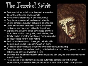"""But why do you let that Jezebel who calls herself a prophet mislead My dear servants into Cross-denying, self-indulging religion? I gave her a chance to change her ways, but she has no intention of giving up a career in the god-business. I'm about to lay her low, along with her partners, as they play their sex-and-religion games. The bastard offspring of their idol-whoring I'll kill. Then every church will know that appearances don't impress Me. I x-ray every motive and make sure you get what's coming to you."